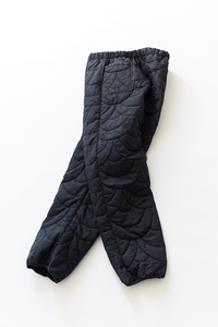 SCP QUILTED EASY PANT—BLACK NYLON