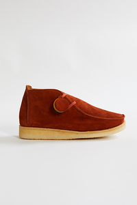 PADMORE & BARNES SINGLE PIECE BOOT - SNUFF SUEDE