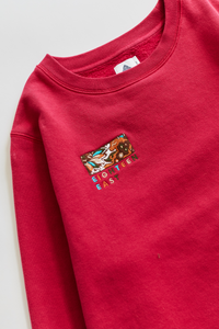 BRAHIM CREWNECK SWEATSHIRT - BERRY PIMA FLEECE