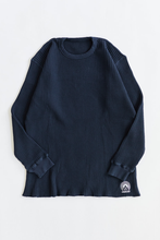 Load image into Gallery viewer, STANDARD ISSUE FOR 18 EAST - MIDNIGHT NAVY THERMAL CREWNECK
