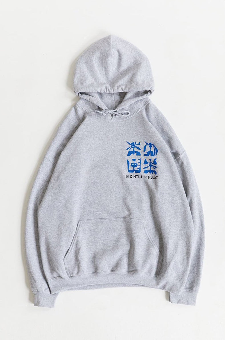 TILES HOODED SWEATSHIRT - COLLEGIATE HEATHER