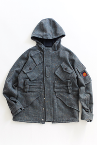 IASCAIRE FISHING PARKA - GRAY MOLLOY & SONS DONEGAL PLAINWEAVE TWEED