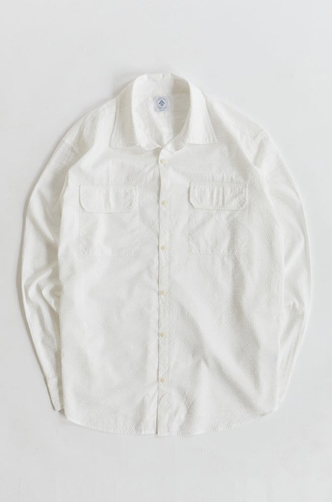 FIELD SHIRT - WHITE SEERSUCKER