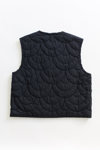 SCP QUILTED GILET—BLACK NYLON