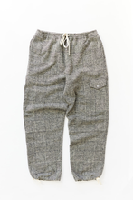Load image into Gallery viewer, CLÚDACH FISHING WADER PANT - BLACK/WHITE MOLLOY & SONS DONEGAL BASKETWEAVE TWEED