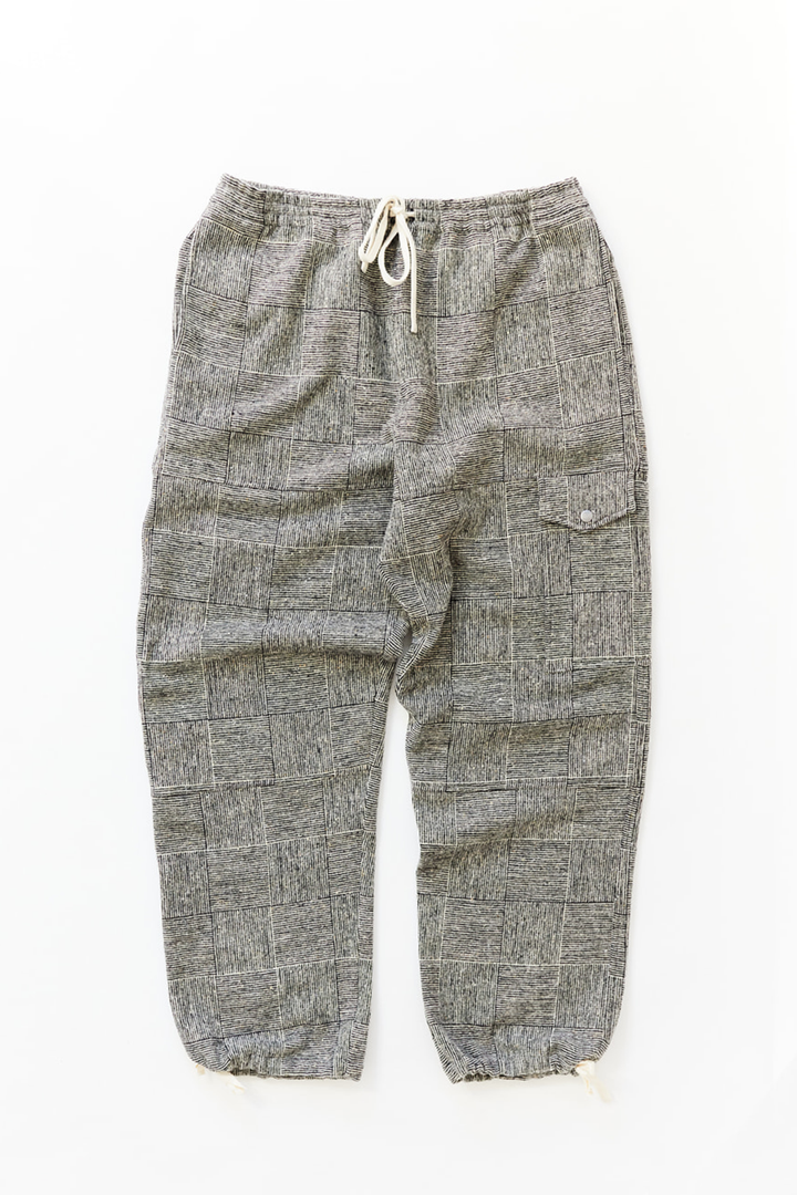 CLÚDACH FISHING WADER PANT - BLACK/WHITE MOLLOY & SONS DONEGAL BASKETWEAVE TWEED
