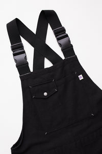 CLÚDACH WADER OVERALL - BLACK HANDWOVEN COTTON CANVAS