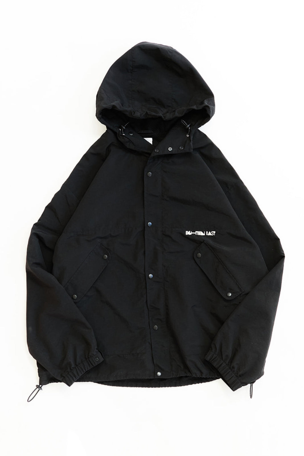 WATERFRONT HOODED SHELL - BLACK TASLAN