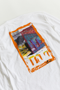 18 EAST X LEON WASHERE CURRACH L/S TEE - WHITE
