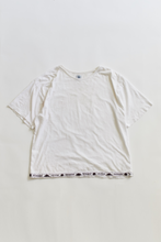 Load image into Gallery viewer, JAMAL HAND-EMBROIDERED BIG TEE - WHITE SLUB JERSEY