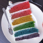 Vegan Rainbow Layers Cake (2 kg)