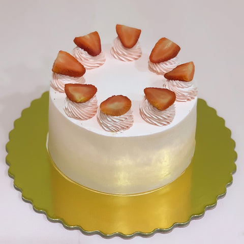 Vegan Vanilla Strawberry Cake