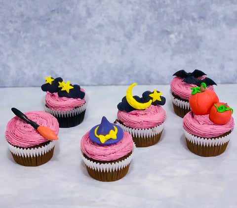 Vegan Halloween Cupcakes Set (6 pcs)