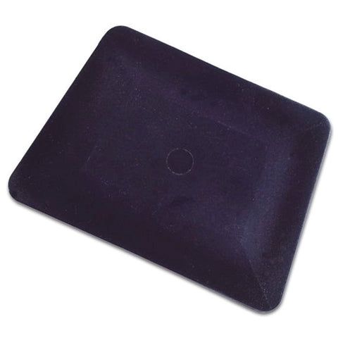 "4"" Black Teflon Hard Card Squeegee - A2300TBK"
