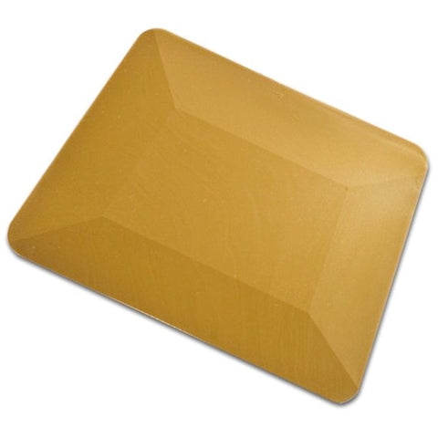 "4"" GOLD TEFLON HARD CARD SQUEEGEE"