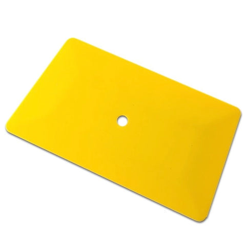 "6"" JUMBO YELLOW TEFLON HARD CARD SQUEEGEE"