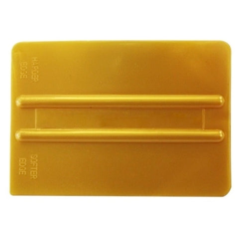 "4"" GOLD DUAL HARDNESS SQUEEGEE"