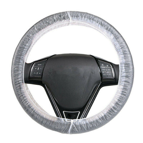 DISPOSABLE PLASTIC STEERING WHEEL COVERS