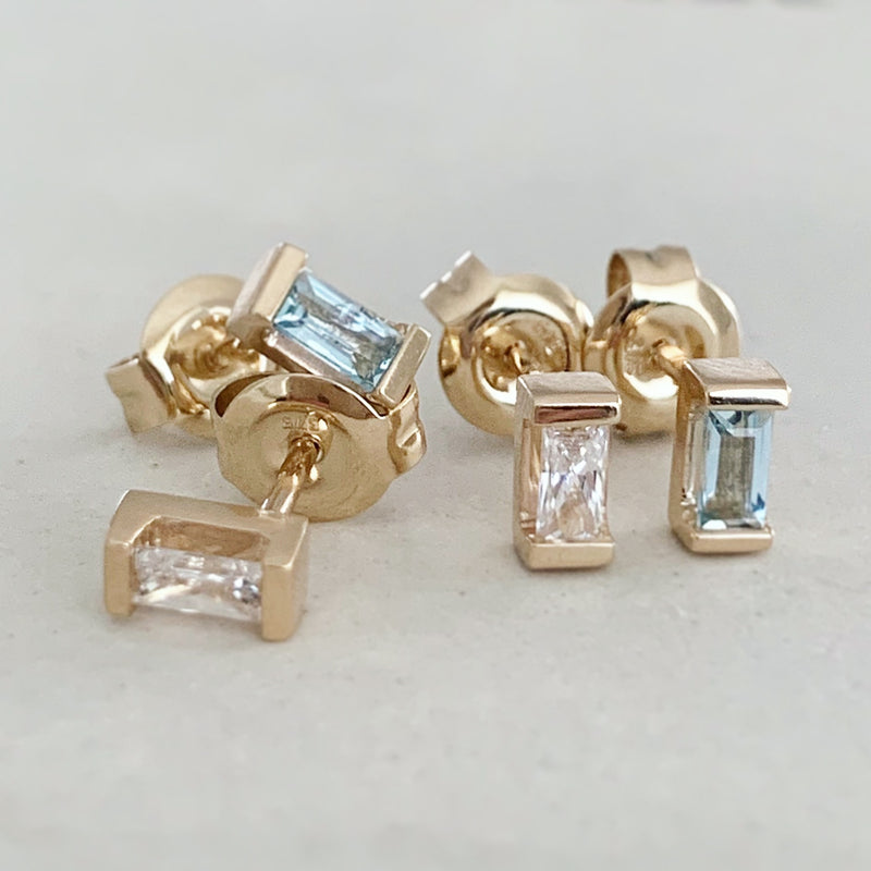 Stackable Birthstone Studs