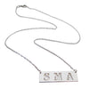 Three Initial cutout bar necklace