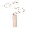 Vertical engraved bar necklace