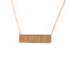 Medium engraved bar necklace.