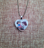 Stainless Steel Heart Shape Picture Pendant