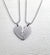 Stainless Steel Broken Heart Picture Pendant