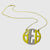 Large block monogram pendant with Cz