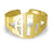 Block Monogram Cuff Bangle