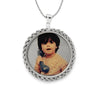 Round Rope Chain Picture Pendant