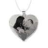 Heart Shape Disc Picture Pendant