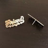Script Design Stud Earrings