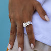 Diamond Cut Tail Name Ring