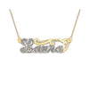 Script Design Single Nameplate rolo link chain