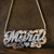 Script Double Nameplate Extra Large with Rope chain
