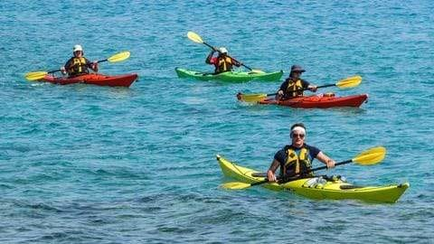 Kayaking with your friends