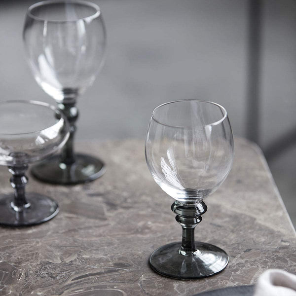 White wine glass, Meyer, Clear/Grey