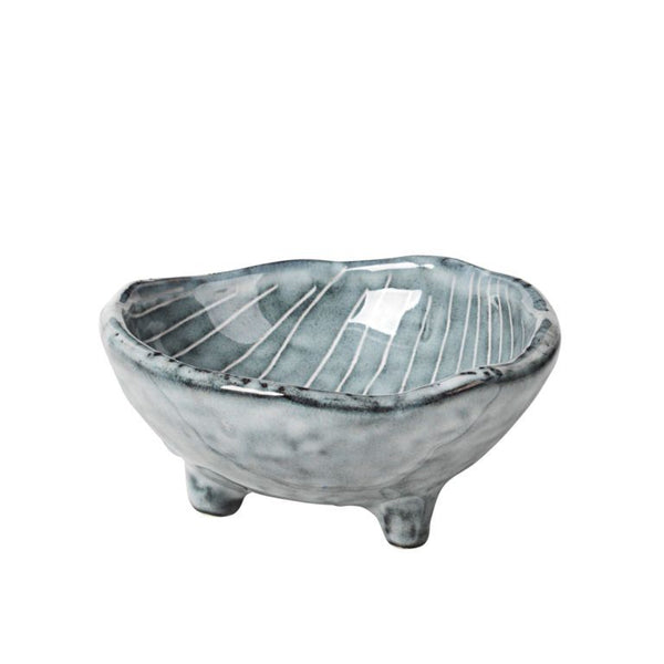 Bowl with Feet Nordic Sea Small
