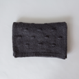 BOBBLE KNIT SCARF CHARCOAL