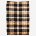 CHECKED LEATHER RUG