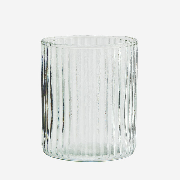 DRINKING GLASS W/ GROOVES