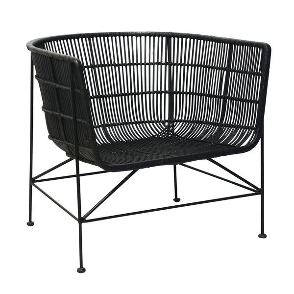 BAHAMA Bucket Chair Black w/Black