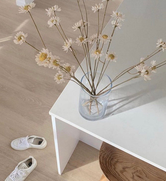 Dried look straw flower 64cm