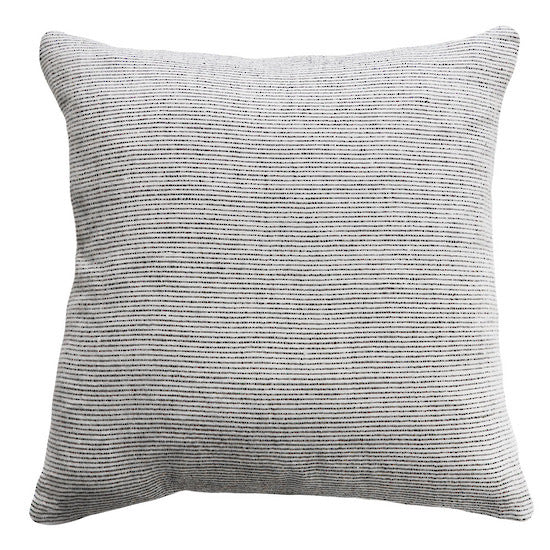SANDRIDGE CUSHION W/FEATHER INNER OFF WHITE/LEAD