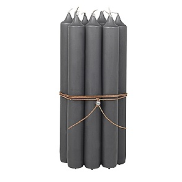 Candle 10 Pack in Grey by Broste Copenhagen
