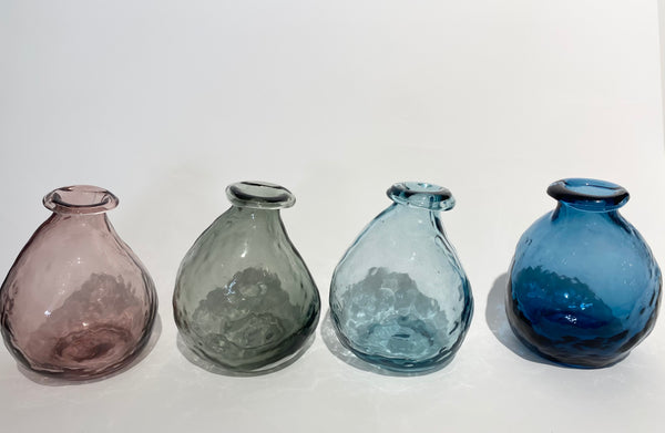 Vase, glass, choose from rose/clear/blue/grey