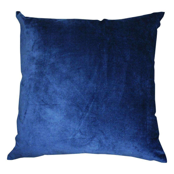 Majestic Velvet/Linen Cushion Navy