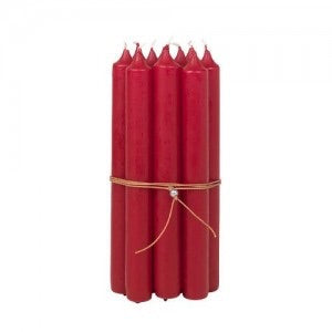 Candle 10 Pack in Red by Broste Copenhagen