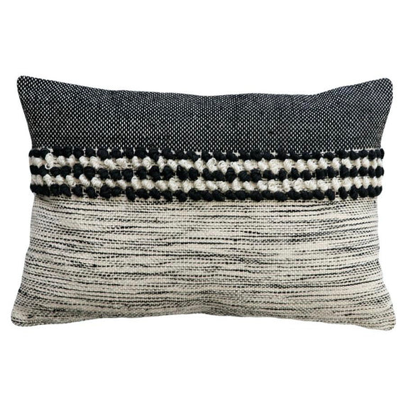 Sawyer Black/White Feather 40x60cm Cushion